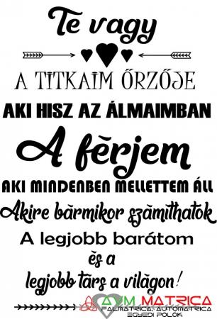szerelmes idézetek férjemnek Te vagy a titkaim őrzője   férjem póló   AVM Matrica