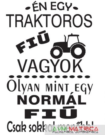 Én egy traktoros fiú... póló - AVM Matrica 2e91853552